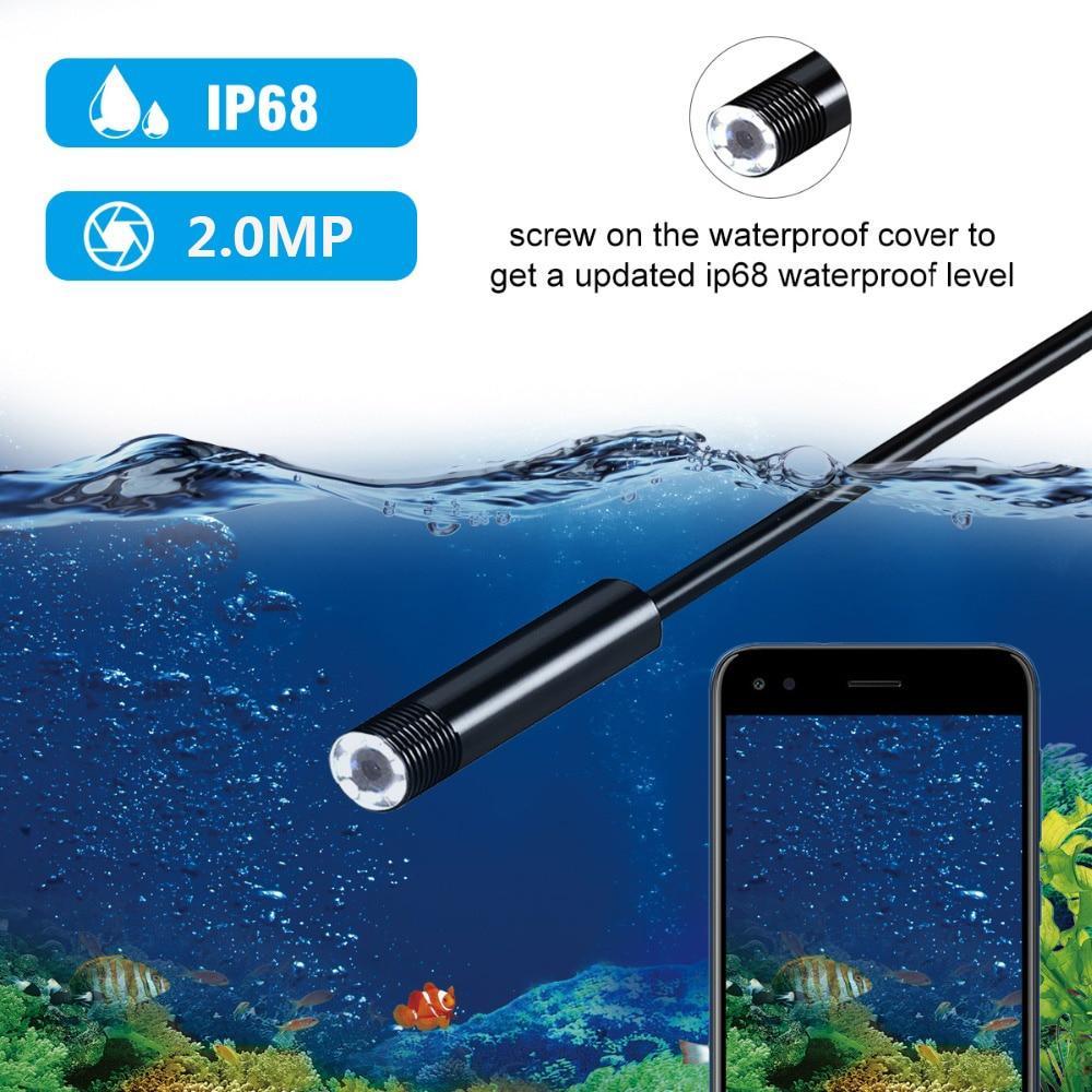 Vài điều đặc trưng cơ bản của thiết bị nội soi ống siêu nhỏ: Chống thấm IP68 đạt chuẩn: máy nội soi có khả năng chống thấm ở đầu camera cho phép bạn sử dụng thoải mái mà lo nước làm ảnh hưởng. Và bên cạnh đó, còn chống bụi bặm để khi bạn vận hành bụi không bám dính làm tắc nghẹn hệ thống hoặc khi bạn không sử dụng đến bụi sẽ bám bận lên Hệ thống chiếu sáng: Ở thiết kế lần này được trang bị 8 bóng đèn LED để bạn có trải nghiệm ở các vùng tối mà không thiếu ánh sáng và chúng ta có thể tùy chỉnh để cho phù hợp nơi bạn cần kiểm tra mà không bị quá lóa sáng Đầu camera: đường kính chỉ 8mm nên bạn có thể sử dụng để kiểm tra ở các nơi siêu nhỏ như trong các bộ phận xe, bảo trì các thiết bị điện, các thiết bị âm tường, các công trình khảo cổ,.... Độ phân giải cao của camera: Với độ phân giải cao lên đến 1200pixel mang đến cho bạn hình ảnh vô cùng sống dộng về màu sắc và sắc nét để quá trình chụp ảnh hay quay video trở nên dễ dàng hơn. Tương thích ở nhiều thiết bị: Chỉ cần bạn đang sử dụng điện thoại thông và khi bạn muốn sử dụng thiết bị nội soi này bạn chỉ cần kết nối là có thể sử dụng mà không cần các thiết bị kết nối rườm rà khác Dây cáp: Khi bạn sử dụng dây cáp bạn sẽ thấy nó có thể uốn cong ở nhiều địa hình khác nhau vì có thiết kế bán cứng, độ đàn hồi vừa phải. Do đó, bạn có thể đi qua ở những nơi gồ ghề, không gia hạn hẹp,..... mà hình dạng của dây cáp không bị quá biến dạng