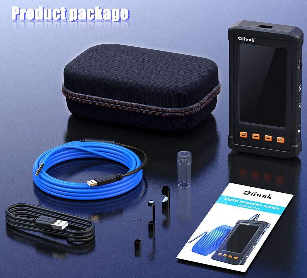 Bộ sản phẩm Industrial Endoscope 3.9 ~6.0mm bao gồm: 1 * Camera nội soi Camera 1 * Dây cáp 1 * Cáp USB 1 * Túi xách du lịch 1 * Móc 1 * Nam châm 1 * Mặt gương 1 * Hướng dẫn sử dụng 1 * Thẻ nhớ TF 8GB Được trang bị thêm dây cáp dài hơn 5m để thay thể kiểm tra ở các vùng sâu hơn