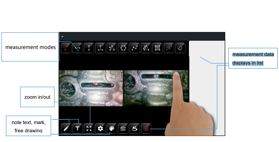 Basic features and operational features of the Videoscope industry: The ability to adjust the images of Videoscope industry: Automatically adjusts the displayed image for balance (there are many modes for you to choose from 1: 1, full screen, 3: 4, ...) Ability to choose the image resolution to match the image quality We can automatically set the camera information to the appropriate place where we need to check such as image brightness, contrast, gamma, sharpness, saturation, hue, etc.) and the filter. audio to support video recording The ability to zoom 5X zoom, digital zoom does not ruin your photos or videos. And while recording a video we can take a picture right there (often called image freezing), so we can save time going back to surveying again. Contrast call for you Smart management:  The device is installed for an intelligent management system to assist you in the process of storing images, videos in memory or external SD card. When you want to store or transfer folders, images, or videos you just made, the steps to take are to copy, cut media, rename products, delete, ...  Cable Videoscope industry:  The cable of this endoscope video is made up of five layers braided with a tungsten material that is waterproof, highly resistant to wear due to exposure to many different environments. Compared to other cables, it is rated 20 times better than other conventional cables  Install images on the device:  Ability to adjust: The parameters displayed on the device have many different modes, depending on the resolution that we can customize to best suit such as brightness - contrast - gamma rays - storm draw - sharpness  Picture Effects: In addition, we also have effects to liven up the images or videos we get - auto-balance / negative color/reflection / rotate / freeze effects right away. on video  Direct Notes: We can annotate directly / Or draw by hand, pen, ... / Mark where need to be considered or special  Camera head:  With the development of 3D technology to
